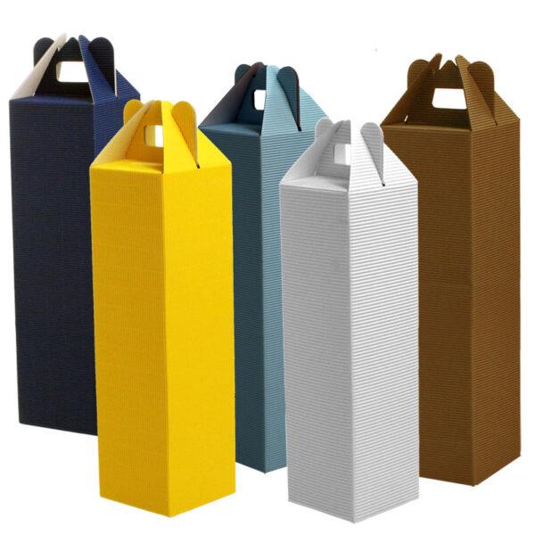 bunte Geschenkverpackungen für Flaschen