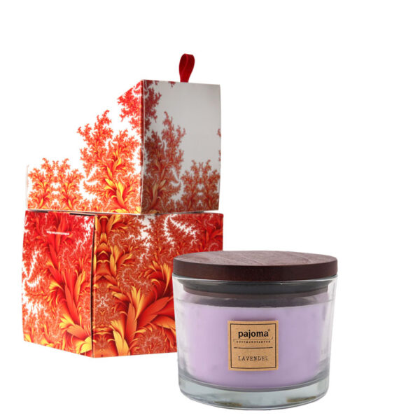 Duftkerze Lavendel mit Geschenkverpackung Gelb Orange